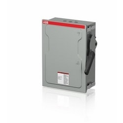 Enclosed heavy duty fusible 3-pole safety switch, 30 AMP, 600 V, NEMA 1, steel sheet enclosed