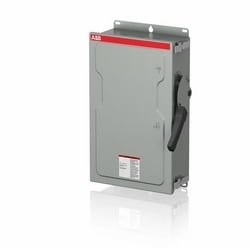 Enclosed heavy duty fusible 3-pole safety switch, 60 AMP, 600 V, NEMA 12, steel sheet enclosed