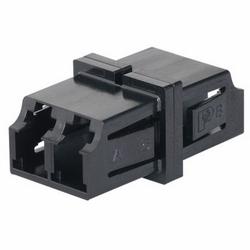 Adaptateur optique de SFF SR/SR LC fibre multimode duplex avec bronze phosphoreux fractionner les manches.