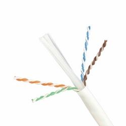 Catégorie 4-paire 6 a Plenum câble cuivre UTP de TX6A de 10Gig, 23 AWG solide cuivre, bleu veste