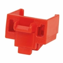 Jack Module Block-out Device, 100 block-outs (Red) And 5 removal Tools (Black)