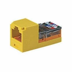Mini-Jack Keyed Module, Category 5e, UTP, 8-Position 8-Wire, Universal Wiring, Red