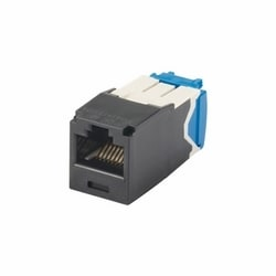 Jack Module, Category 6, UTP, 8-Position 8-Wire, Universal Wiring, TP Style, Black