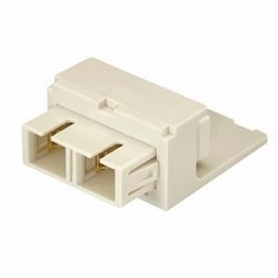 Module Supplied With One SC Duplex Fiber Optic Adapter With Phosphor Bronze Split Sleeves, Off White