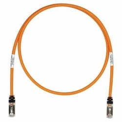 Copper Patch Cord, RJ45-RJ45, Category 6A, Orange S/FTP Cable, 24ft