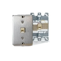 STAINLESS STEEL WALL PHONE PLATE. 14 INCHES DEEP
