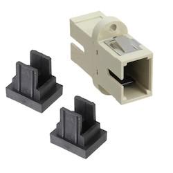 Optical Fiber Coupler, Simplex SC, Multimode, Beige Housing, RoHS compliant