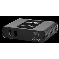 USB Extender System That Delivers Power To Remote Hub Over Cat 5 Extension Link Simplifying Installation And Eliminating The Need For AC Power Close To The Remote Unit